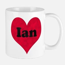 Ian Leather Heart Mug