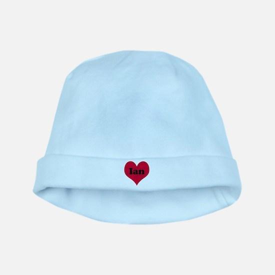 Ian Leather Heart baby hat