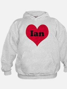 Ian Leather Heart Hoodie