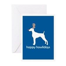 "Weimaraner ""Happy Howlidays"" Greeting Cards (Packa"
