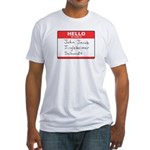 Big Jingleheimer Name Tag Fitted T-Shirt