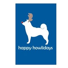 """Shiba Inus """"Happy Howlidays"""" Postcards (Package of"""