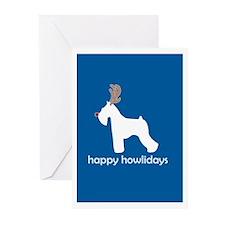 "Schnauzer ""Happy Howlidays"" Greeting Cards (Packag"
