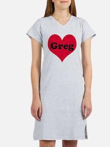 Greg Leather Heart Women's Nightshirt