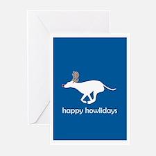 "Greyhound ""Happy Howlidays"" Greeting Cards (Packag"
