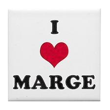 I Love Marge Tile Coaster