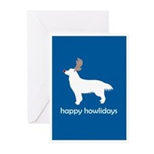 """Golden """"Happy Howlidays"""" Greeting Cards (Package o"""