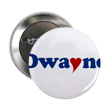 """Dwayne with Heart 2.25"""" Button"""