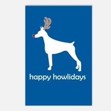 "Doberman ""Happy Howlidays"" Postcards (Package of 8"