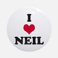 I Love Neil Round Ornament