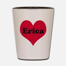 Erica Leather Heart Shot Glass