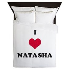 I Love Natasha Queen Duvet