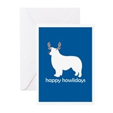 """Border Collie """"Happy Howliday Greeting Cards (Pack"""