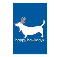 "Basset Hound ""Happy Howlidays Postcards (Package o"