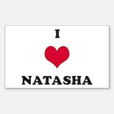 I Love Natasha Rectangle Decal