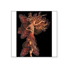 "Butterfly Girl Square Sticker 3"" x 3"""