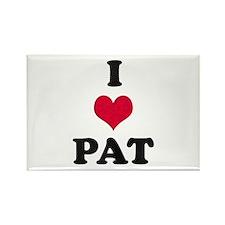 I Love Pat Rectangle Magnet