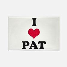 I Love Pat Rectangle Magnet
