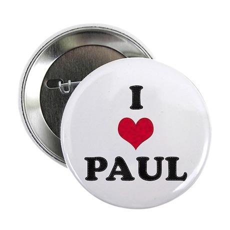 I Love Paul Button