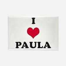 I Love Paula Rectangle Magnet