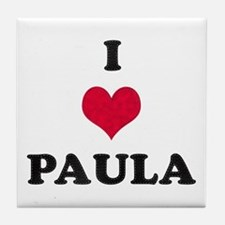I Love Paula Tile Coaster