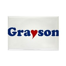 Grayson with Heart Rectangle Magnet
