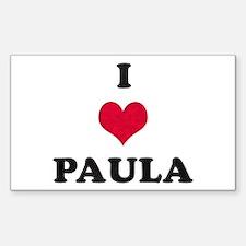 I Love Paula Rectangle Decal