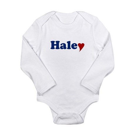 Haley with Heart Long Sleeve Infant Bodysuit