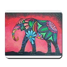 Psychedelic Elephant Mousepad