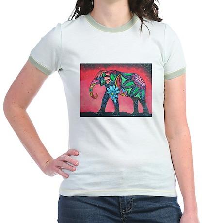 Psychedelic Elephant Jr. Ringer T-Shirt