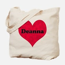 Deanna Leather Heart Tote Bag