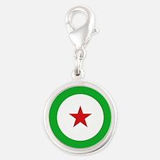 Djibouti AF roundel Silver Round Charm