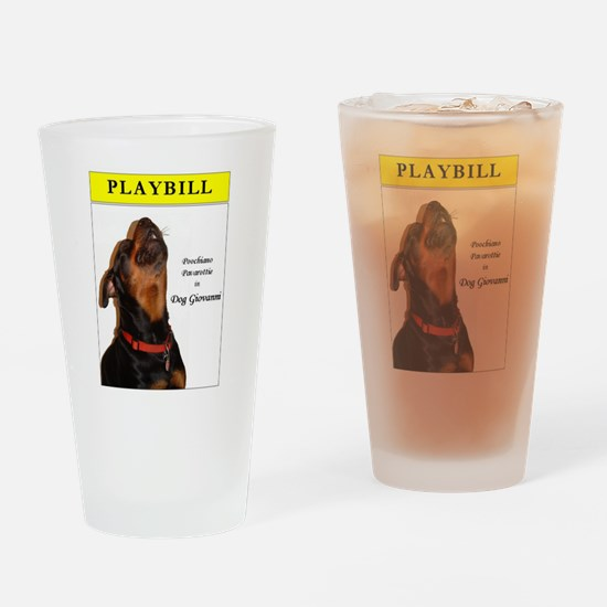 Rottie Playbill Drinking Glass
