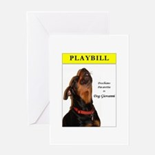 Rottie Playbill Greeting Card