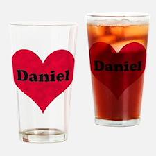 Daniel Leather Heart Drinking Glass