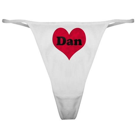 Dan Leather Heart Classic Thong