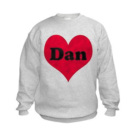 Dan Leather Heart Kids Sweatshirt