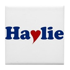 Haylie with Heart Tile Coaster