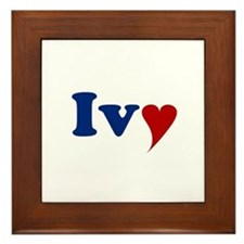 Ivy with Heart Framed Tile