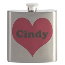 Cindy Leather Heart Flask