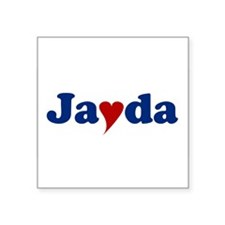 """Jayda with Heart Square Sticker 3"""" x 3"""""""