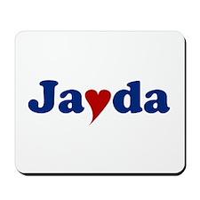 Jayda with Heart Mousepad