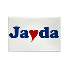 Jayda with Heart Rectangle Magnet