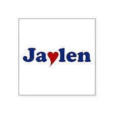 "Jaylen with Heart Square Sticker 3"" x 3"""