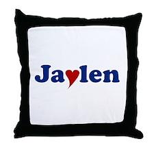 Jaylen with Heart Throw Pillow
