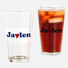 Jaylen with Heart Drinking Glass