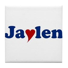 Jaylen with Heart Tile Coaster