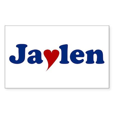 Jaylen with Heart Sticker (Rectangle)