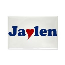 Jaylen with Heart Rectangle Magnet
