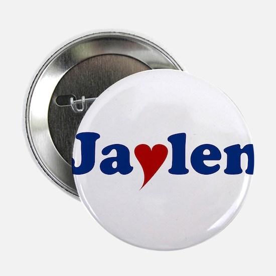 "Jaylen with Heart 2.25"" Button"